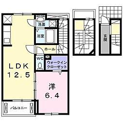 メゾン グレーシア 3階1LDKの間取り