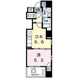 ベスティエ秋葉原 7階1DKの間取り