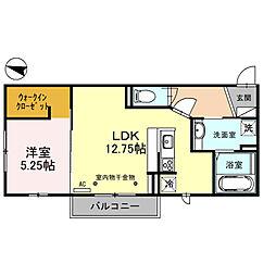 アスティ 3階1LDKの間取り