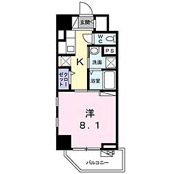 ライト・アベニュー 3階1Kの間取り