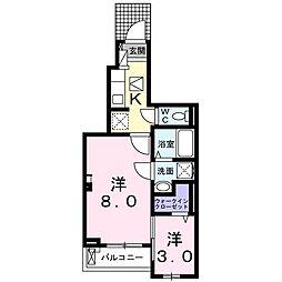 JR片町線(学研都市線) 徳庵駅 徒歩13分の賃貸アパート 1階1Kの間取り