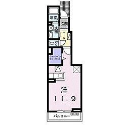 メゾンド・ジュネス 1階1Kの間取り