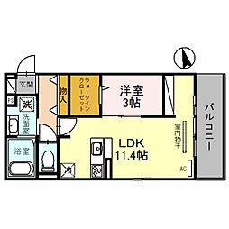 阪急宝塚本線 石橋阪大前駅 徒歩12分の賃貸アパート 2階1LDKの間取り