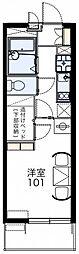JR京浜東北・根岸線 さいたま新都心駅 徒歩11分の賃貸マンション 2階1Kの間取り