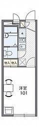 JR京浜東北・根岸線 大宮駅 バス24分 庚申塚下車 徒歩4分の賃貸アパート 2階1Kの間取り
