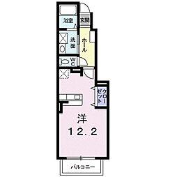 JR函館本線 岩見沢駅 バス21分 南町7条3丁目下車 徒歩7分の賃貸アパート 1階1Kの間取り