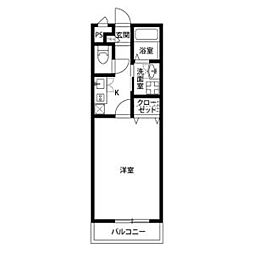 JR中央本線 高蔵寺駅 5.6kmの賃貸アパート 2階1Kの間取り