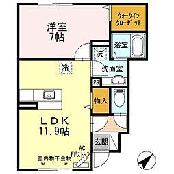 ユカレリ ハレ 1階1LDKの間取り