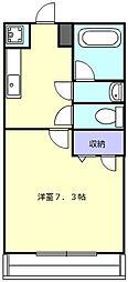 アルミュール桜ヶ丘II番館 1階1Kの間取り