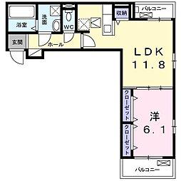 Y・Y・Y - 22 2階1LDKの間取り