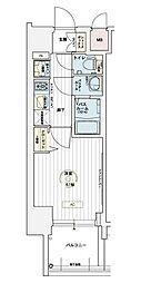 JR山陽本線 兵庫駅 徒歩10分の賃貸マンション 9階1Kの間取り