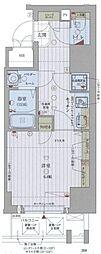Osaka Metro谷町線 中崎町駅 徒歩8分の賃貸マンション 7階1Kの間取り