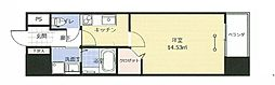アークデュオ福島万世町 3階1Kの間取り