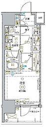 東武東上線 北池袋駅 徒歩14分の賃貸マンション 6階1Kの間取り