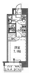 神戸市海岸線 中央市場前駅 徒歩7分の賃貸マンション 3階1Kの間取り
