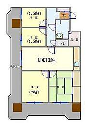 ライオンズマンション金剛院第二 4階4LDKの間取り