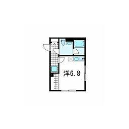 MDM武蔵小山 3階ワンルームの間取り