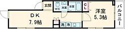 京王井の頭線 西永福駅 徒歩7分の賃貸マンション 2階1DKの間取り