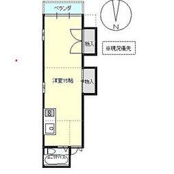 026ビル 3階ワンルームの間取り