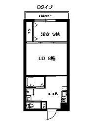 福岡市地下鉄空港線 藤崎駅 徒歩25分の賃貸マンション 4階1LDKの間取り