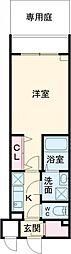 都営大江戸線 東新宿駅 徒歩11分の賃貸マンション 1階1Kの間取り