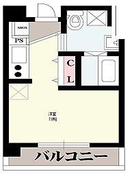 OrientCity・M 3階ワンルームの間取り