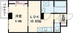 プレメゾンNFII 4階1LDKの間取り