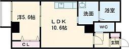 プレメゾンNFII 3階1LDKの間取り