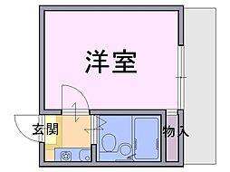 JR桜井線 桜井駅 徒歩5分の賃貸アパート 1階1Kの間取り