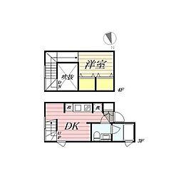 PASEO新宿3丁目I 3階1DKの間取り