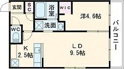 BELLEFINE Takadai 1階1LDKの間取り
