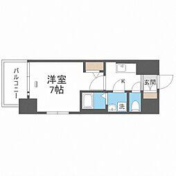 JR大阪環状線 大正駅 徒歩10分の賃貸マンション 2階1Kの間取り