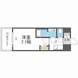 JR大阪環状線 大正駅 徒歩10分の賃貸マンション 4階1Kの間取り