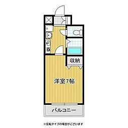 バッハレジデンス神戸ウエスト B棟 5階1Kの間取り