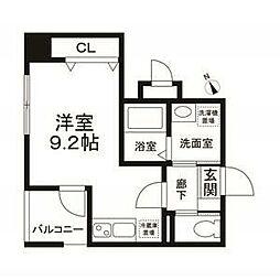 東京メトロ有楽町線 江戸川橋駅 徒歩1分の賃貸マンション 4階ワンルームの間取り