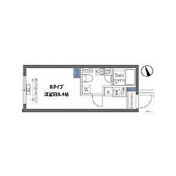 JR山手線 恵比寿駅 徒歩15分の賃貸マンション 4階ワンルームの間取り