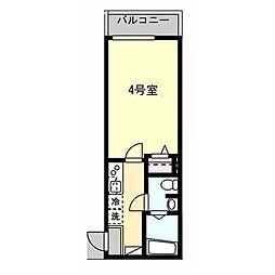 京急本線 県立大学駅 徒歩7分の賃貸アパート 2階1Kの間取り