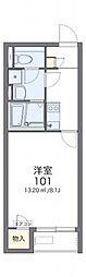 レオネクストサンフラワー上新地 2階1Kの間取り