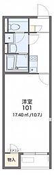 JR津山線 法界院駅 バス5分 三野下車 徒歩4分の賃貸アパート 1階1Kの間取り