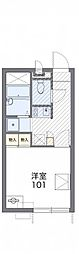 JR仙石線 陸前高砂駅 徒歩19分の賃貸アパート 2階1Kの間取り