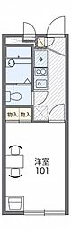 JR京浜東北・根岸線 大宮駅 バス24分 庚申塚下車 徒歩4分の賃貸アパート 1階1Kの間取り