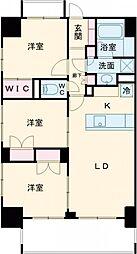 JR山手線 新宿駅 徒歩16分の賃貸マンション 7階3LDKの間取り