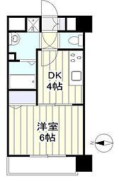 仙台市営南北線 長町南駅 徒歩8分の賃貸マンション 6階1DKの間取り
