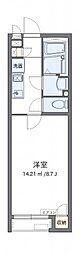 東武日光線 幸手駅 徒歩10分の賃貸アパート 2階1Kの間取り