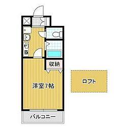 バッハレジデンス神戸ウエスト C棟 5階1Kの間取り