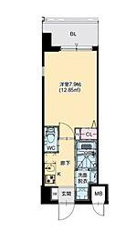 JR大阪環状線 芦原橋駅 徒歩7分の賃貸マンション 7階1Kの間取り