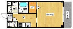Cruyff Court 1階1Kの間取り