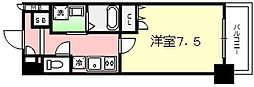 Osaka Metro堺筋線 南森町駅 徒歩7分の賃貸マンション 14階1Kの間取り
