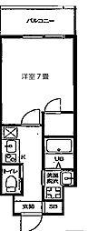 JR大阪環状線 天満駅 徒歩8分の賃貸マンション 7階1Kの間取り