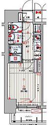 Osaka Metro谷町線 四天王寺前夕陽ヶ丘駅 徒歩8分の賃貸マンション 6階1Kの間取り